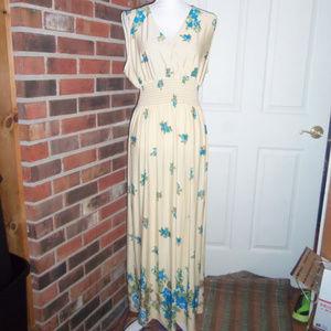 Jon & Anna Floral Surplice Empire-Waist Dress 1X
